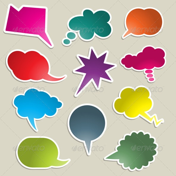 Speech bubble collection - Miscellaneous Characters