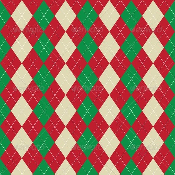 Christmas themed argyle pattern