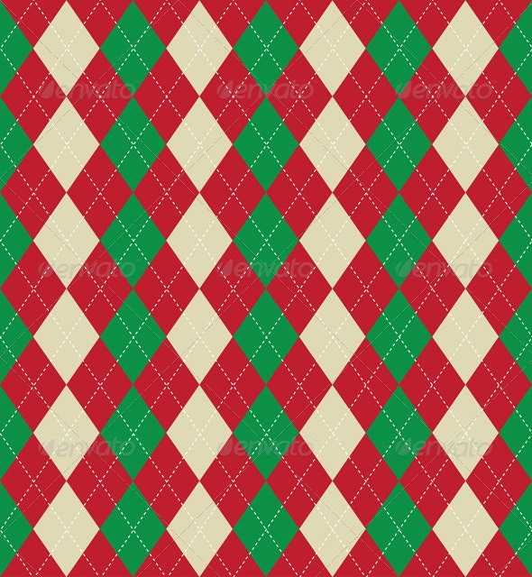 Christmas themed argyle pattern - Christmas Seasons/Holidays