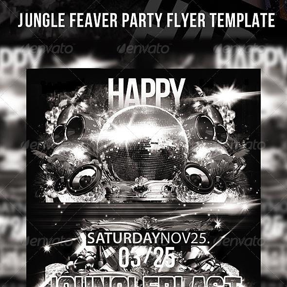 Jungle Feaver Party Flyer Template