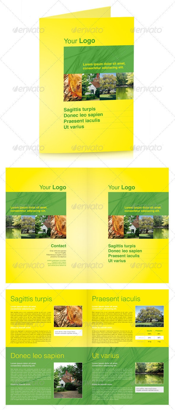Nature - Green 4 Page Brochure - Corporate Brochures