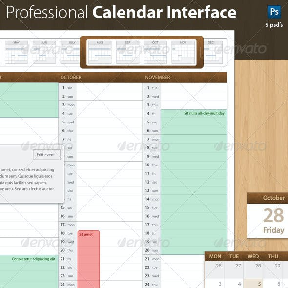 Leatherbound 1.0 Professional Calendar Template