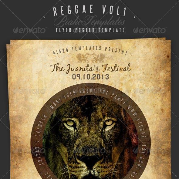 Reggae Vol.1  Flyer/Poster Template