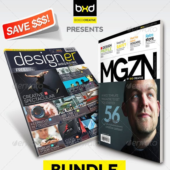 Magazine Template Bundle - InDesign Layout V1