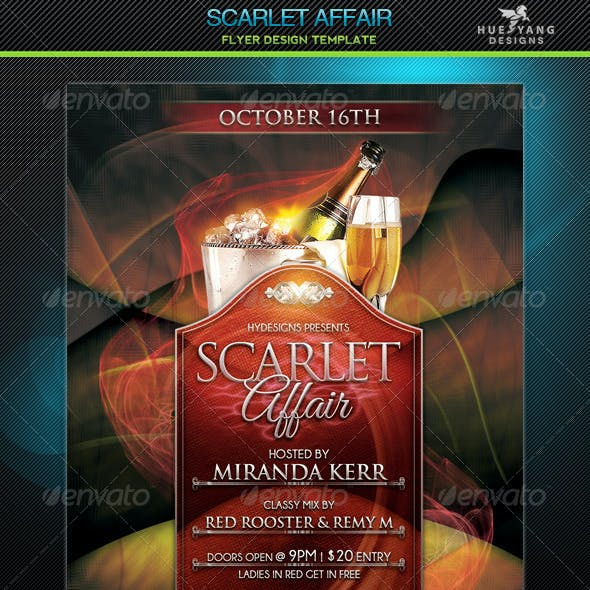 Scarlet Affair Flyer