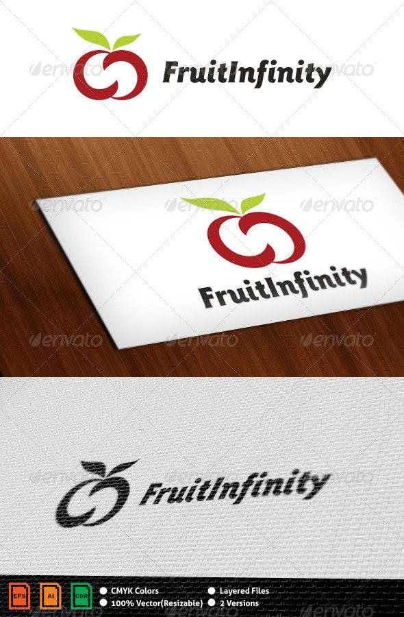 Fruit Infinity Logo Template - Food Logo Templates