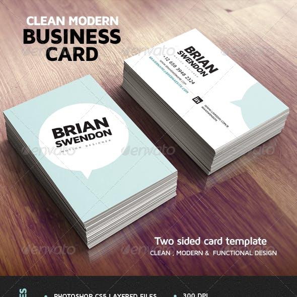 Clean Modern Business Card