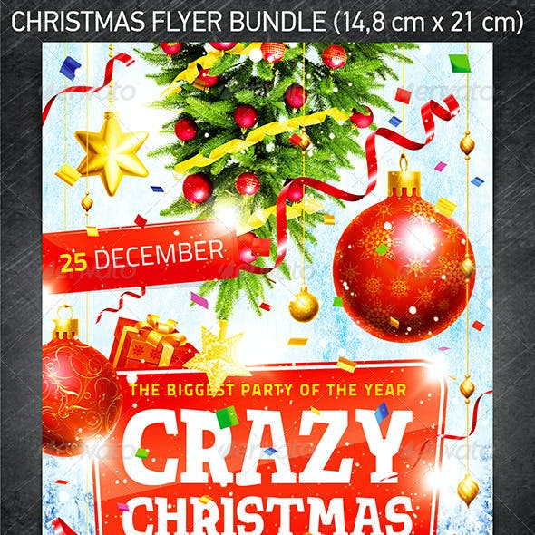 Christmas Celebration Flyer Bundle