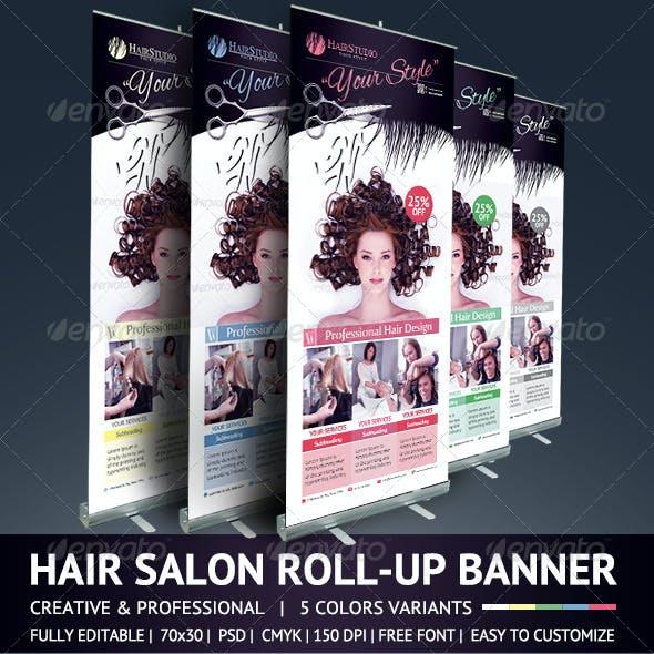 Hair Salon Roll Up Banner