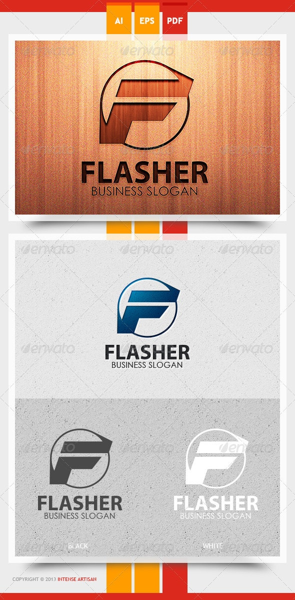 Flasher Logo Template - Letters Logo Templates
