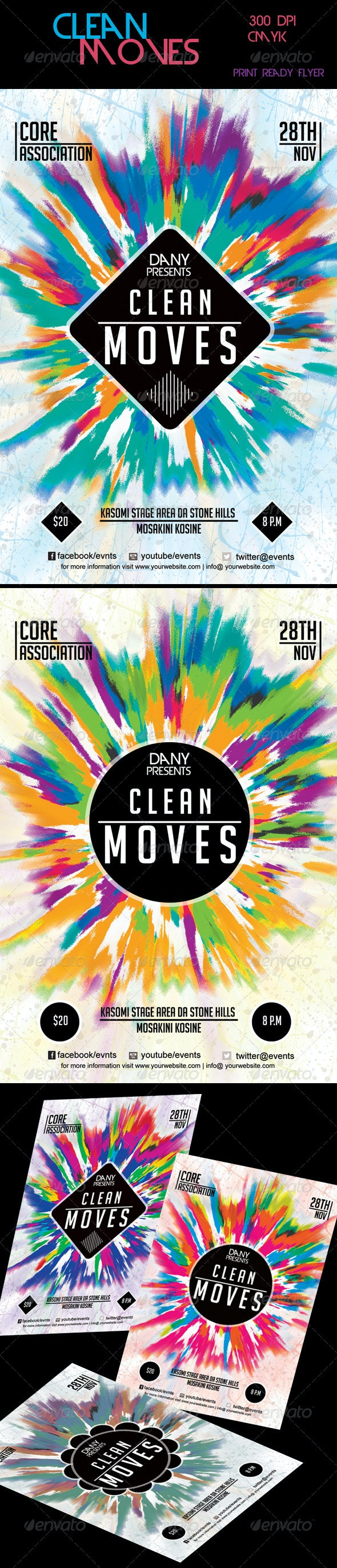 Clean Moves Flyer 2 - Miscellaneous Events