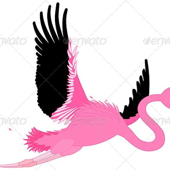 Comic Flamingo