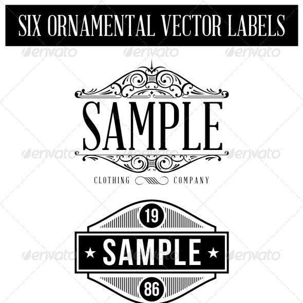 6 Vintage Labels