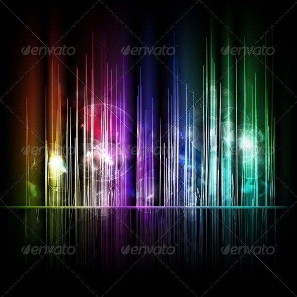 Abstract Multicolored Lines Background - Abstract Conceptual