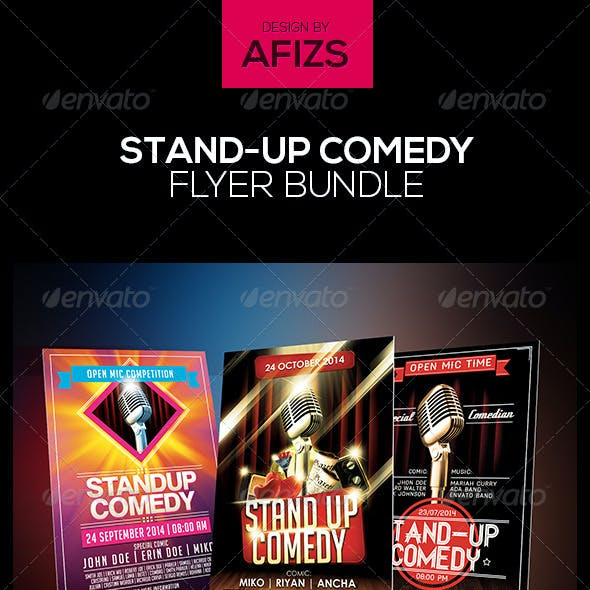 Stand-Up Comedy Flyer Bundle