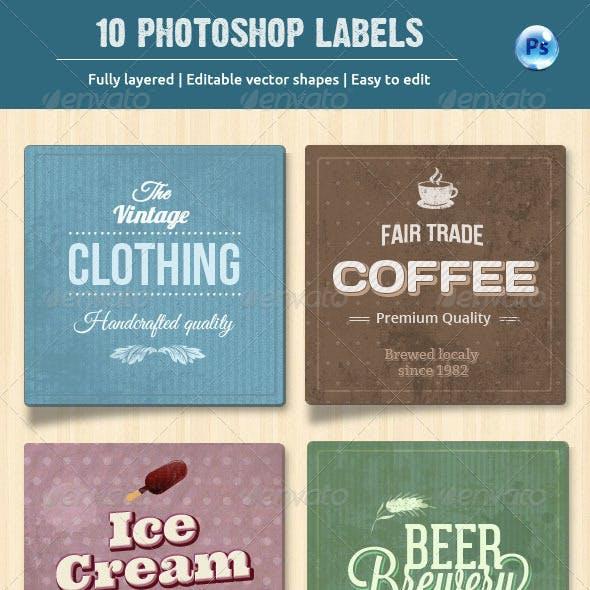 10 Retro Labels / Badges
