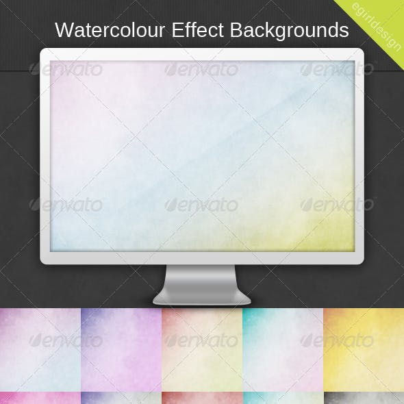 30 Watercolour Effect Backgrounds