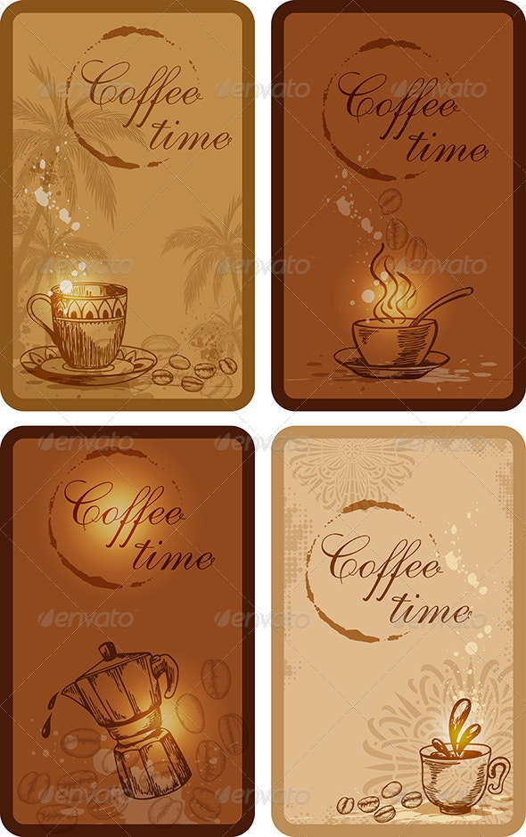 Coffee Banners - Food Objects