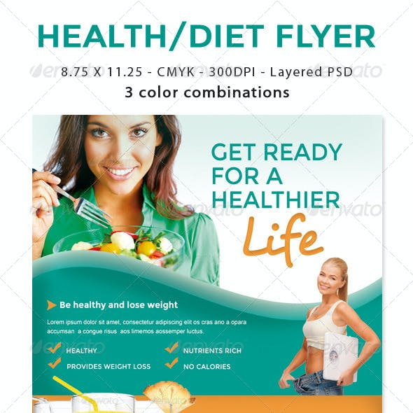 Healthy Life / Diet Flyer