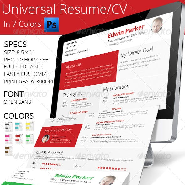 Universal Resume Set