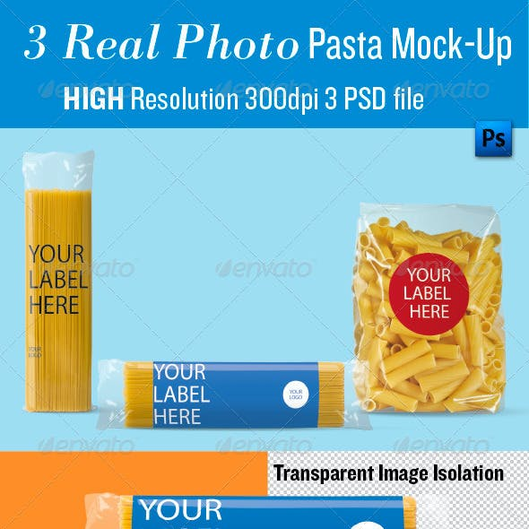 Pasta Mock-Up, Real Photo