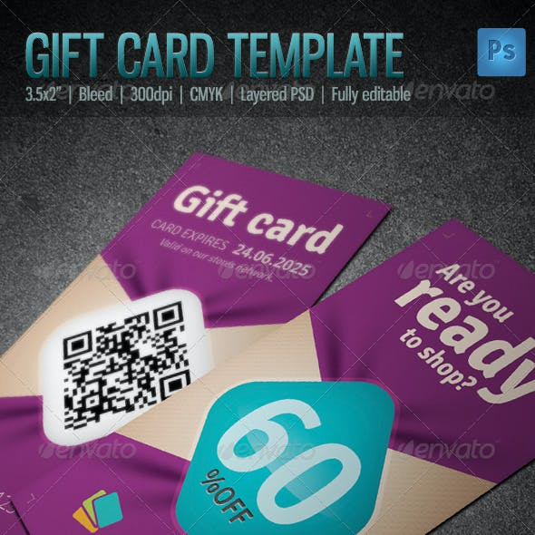 Gift / Voucher Card Template 2