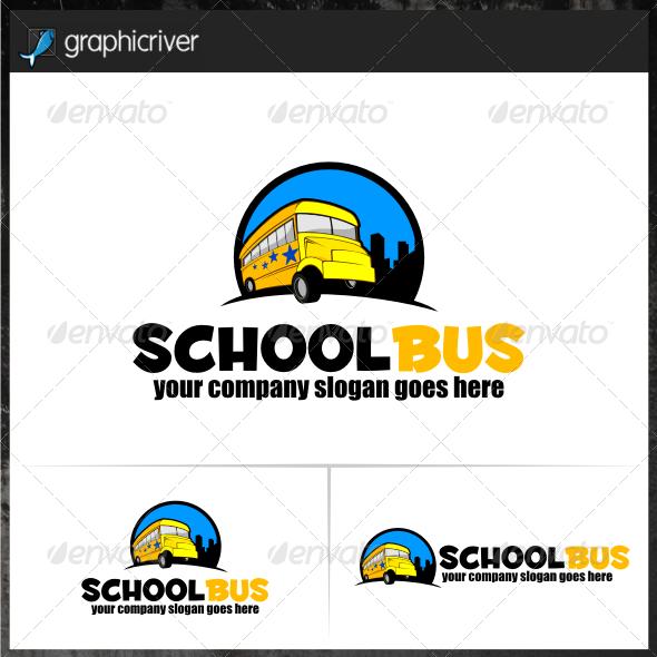 School Bus Logo Templates