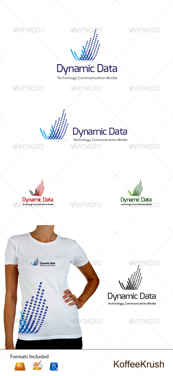 Dynamic Data Logo - Abstract Logo Templates