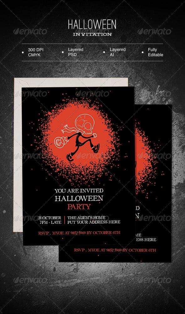 Halloween Invitation - Invitations Cards & Invites