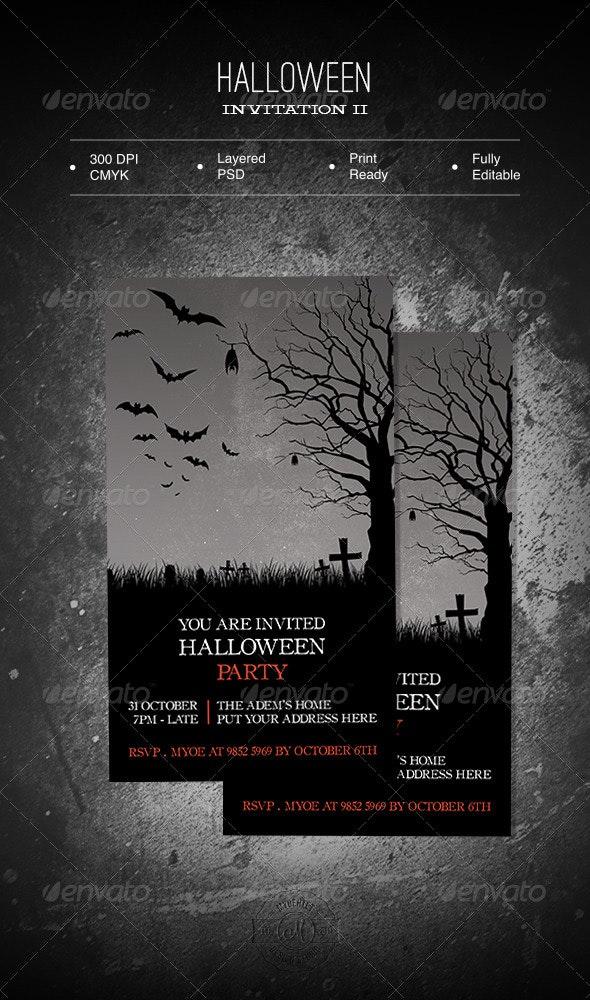 Halloween Invitation II - Invitations Cards & Invites