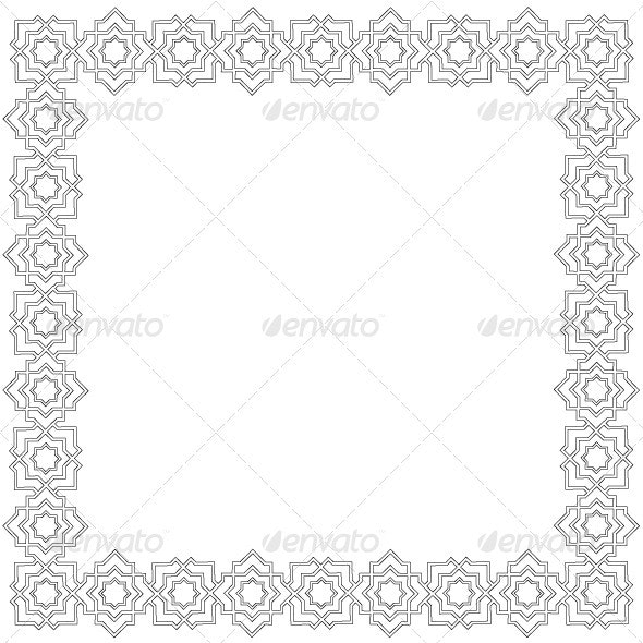 Agra Simple Frame. - Borders Decorative