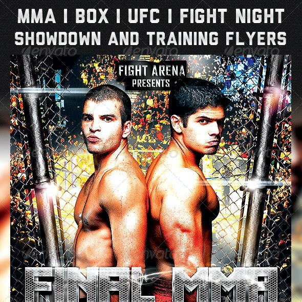 MMA/UFC/BOX Showdown and Training Flyers