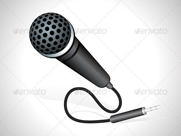 Abstract Mic Icon - Media Icons