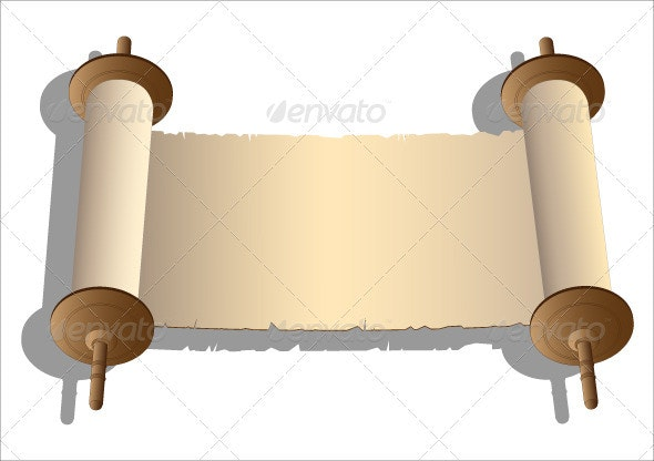 Ancient scroll of parchment. - Backgrounds Decorative