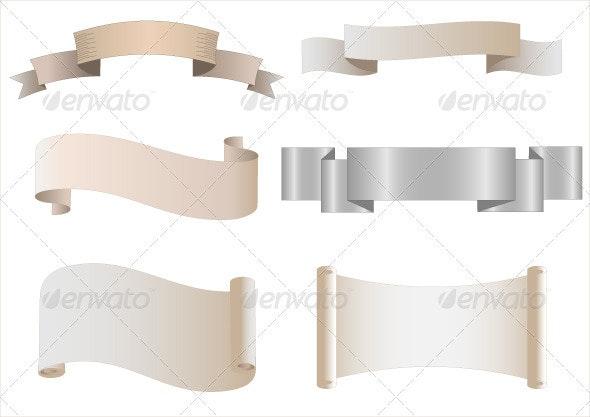 Set of Heraldic Scrolls - Backgrounds Decorative