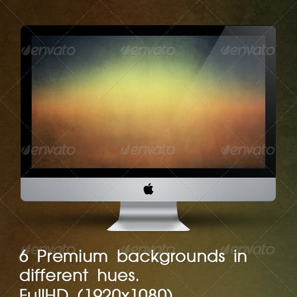 6 Premium Backgrounds In Different Hues