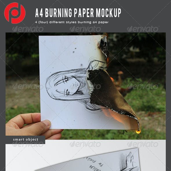 A4 Burning Mockup