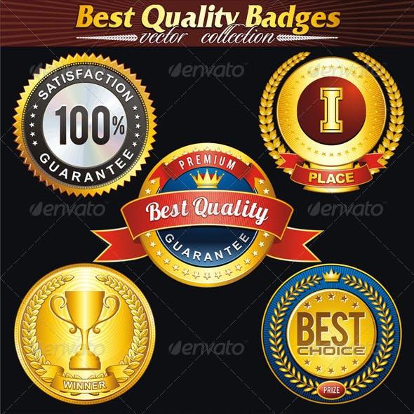 Quality Badge Vector Set