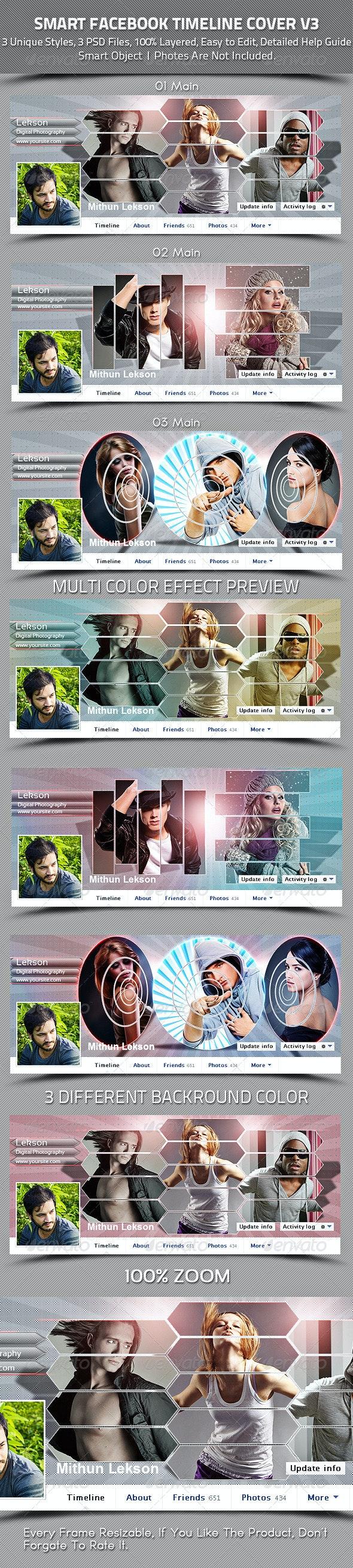 Smart Facebook Timeline Cover V3 - Facebook Timeline Covers Social Media