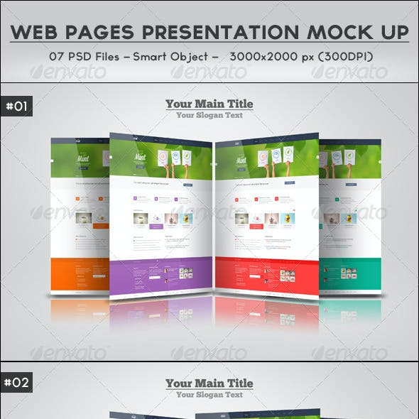 Web Pages Presentation Mock Up