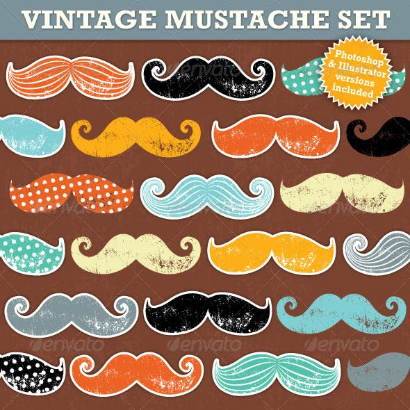 Vintage Mustaches
