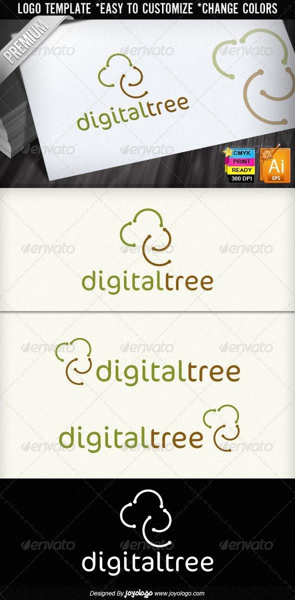 Digital Tree Community Logo Design  - Nature Logo Templates