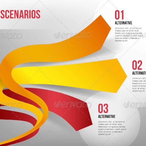 Elastic 3D Arrows Representing Three Directions