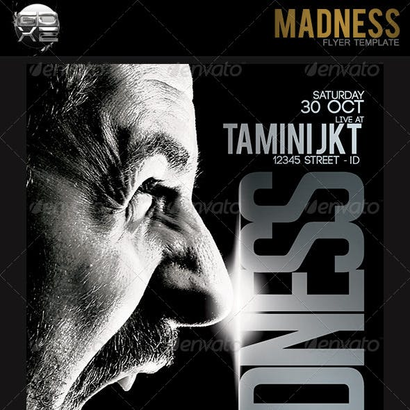 Madness Flyer Template