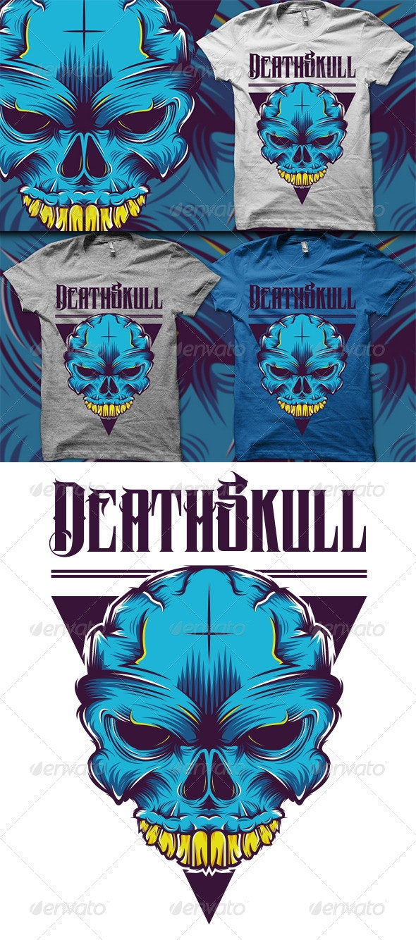 Skull T-Shirt - Grunge Designs