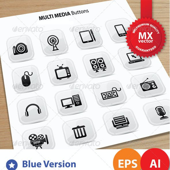 16 Media Icons 5 Version
