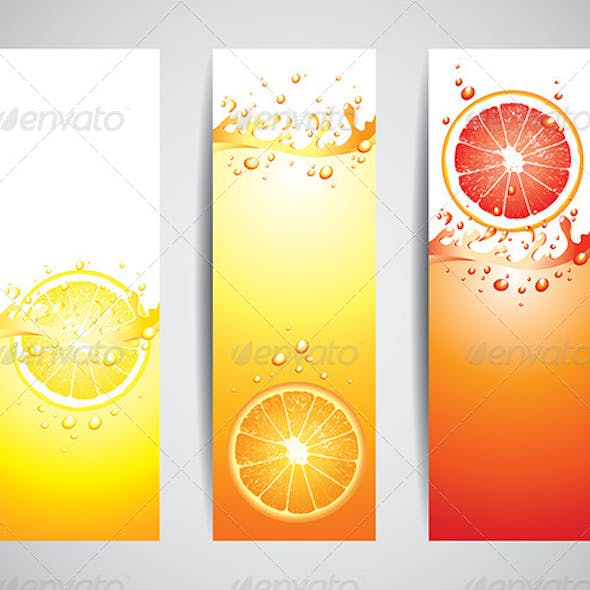 Juicy Citrus Splashes Banners