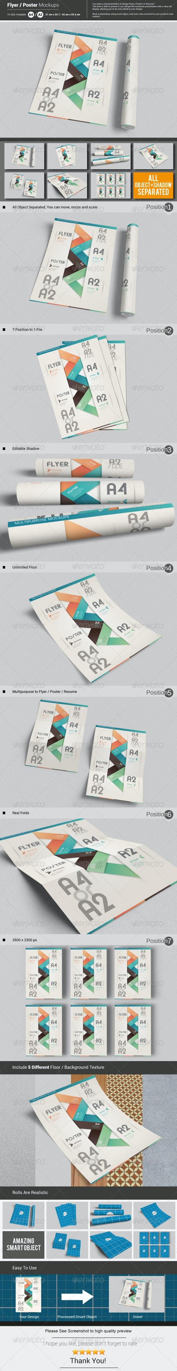 Flyer / Poster Mockups - Print Product Mock-Ups