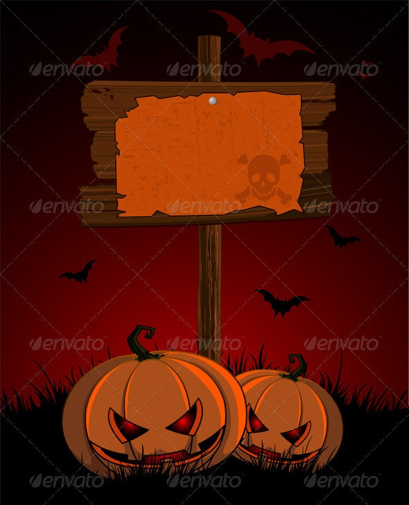 Halloween wooden  sign - Halloween Seasons/Holidays