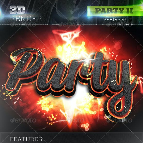 3D Party Lava Text